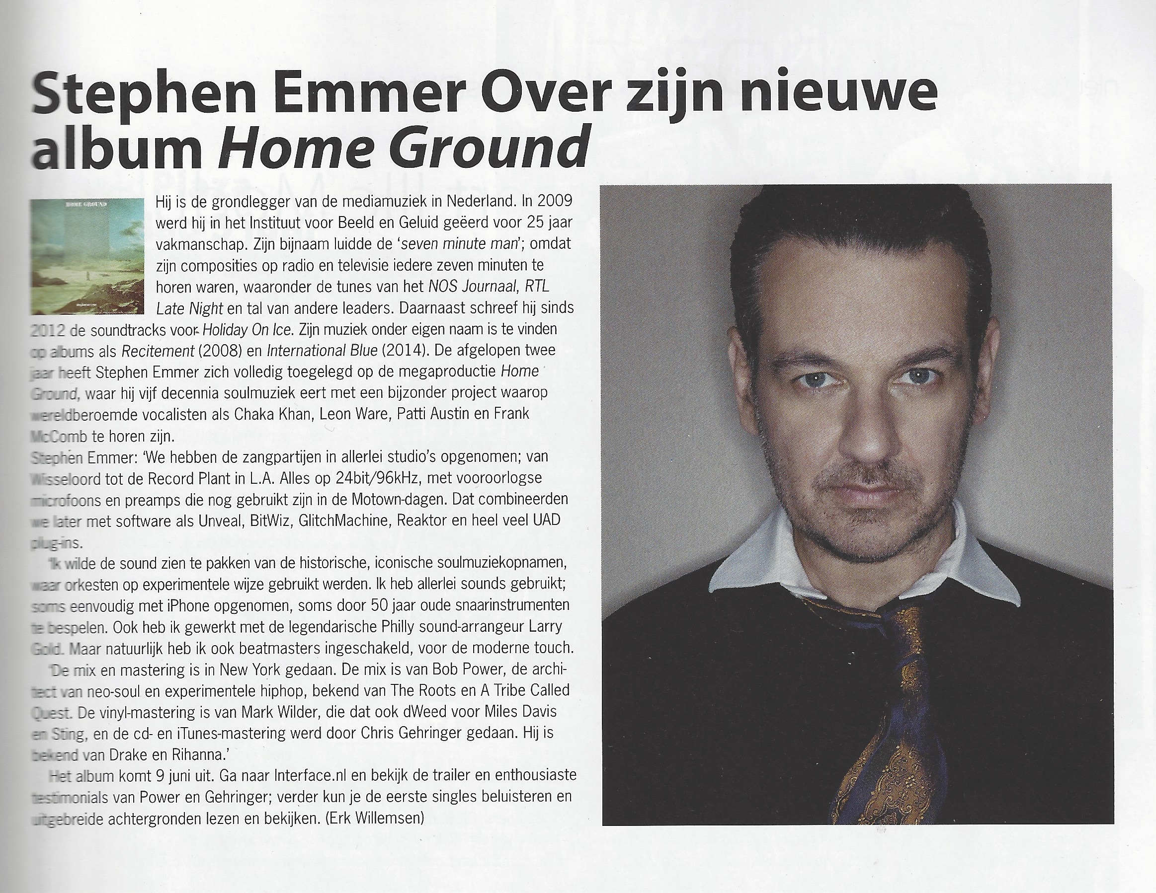 stephen emmer home ground project interface interview